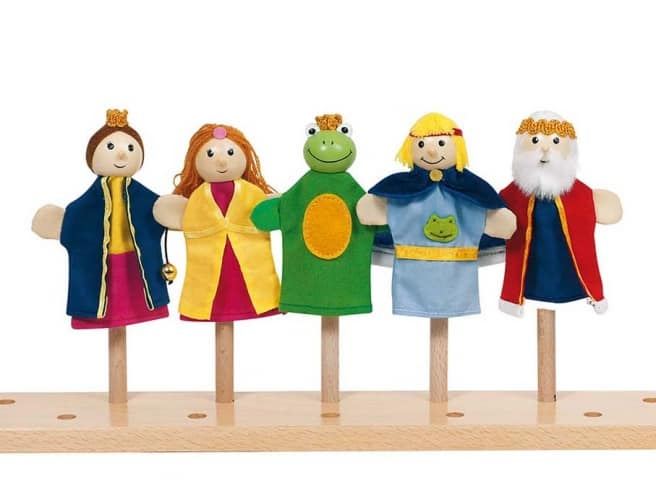 Fingerpuppenset Froschkönig (5 Figuren)