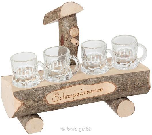 Schnapsbrunnen mit 4 Gläser