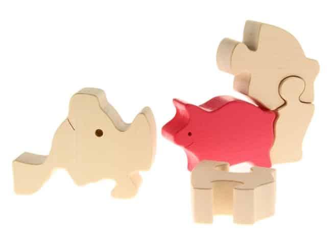 Tierpuzzle Schwein